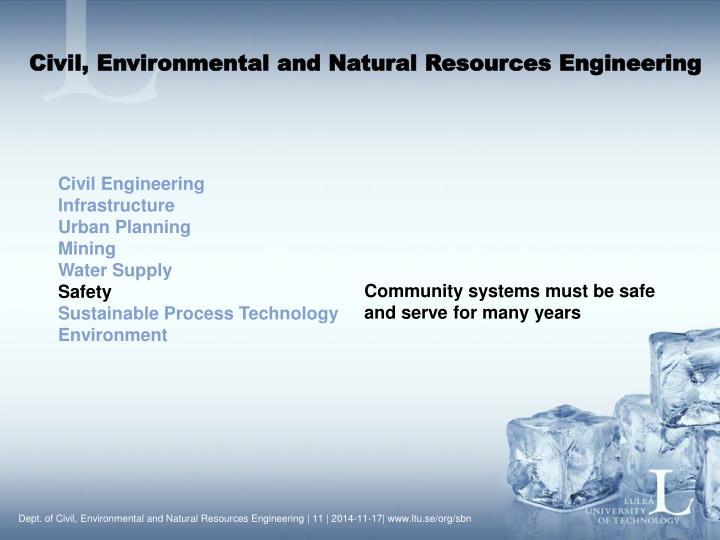 Civil, Environmental and Natural Resources Engineering