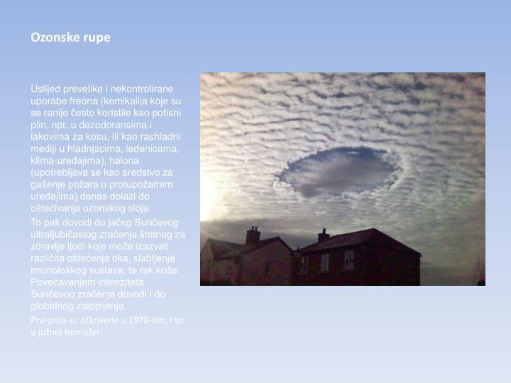 Ozonske rupe