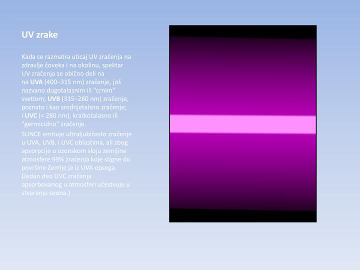 UV zrake