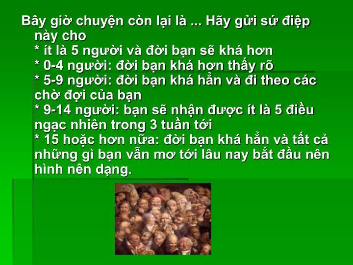 By gi chuyn cn li l ... Hy gi s ip ny cho