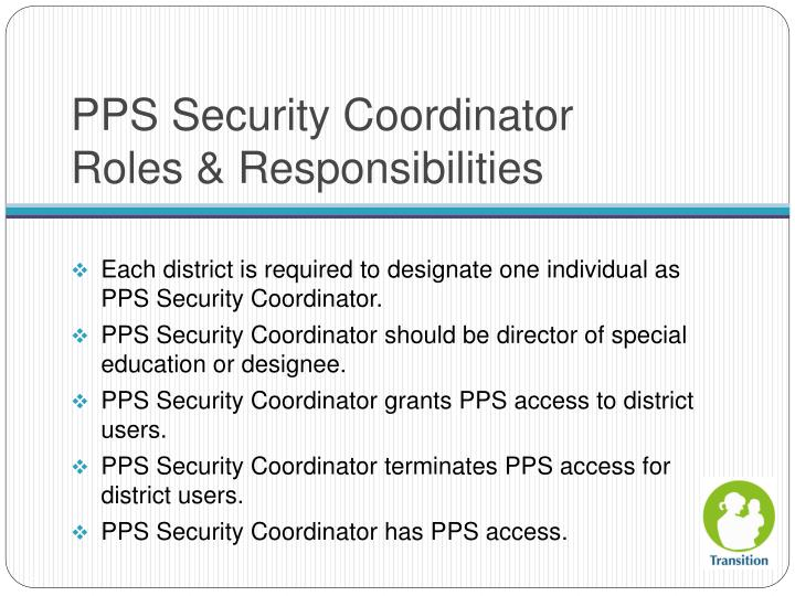 PPS Security Coordinator