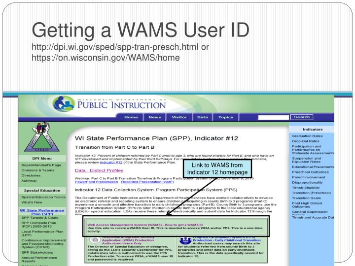 Getting a WAMS User ID