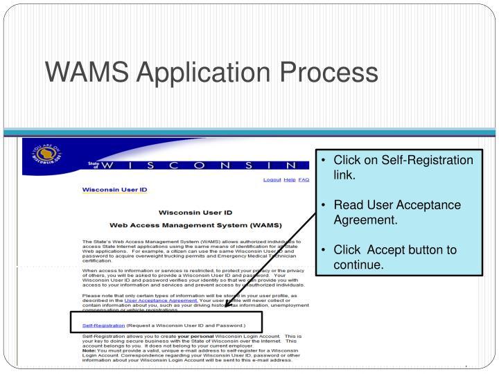 WAMS Application Process