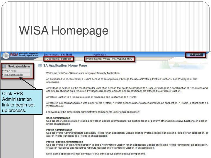 WISA Homepage