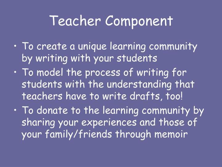 Teacher Component
