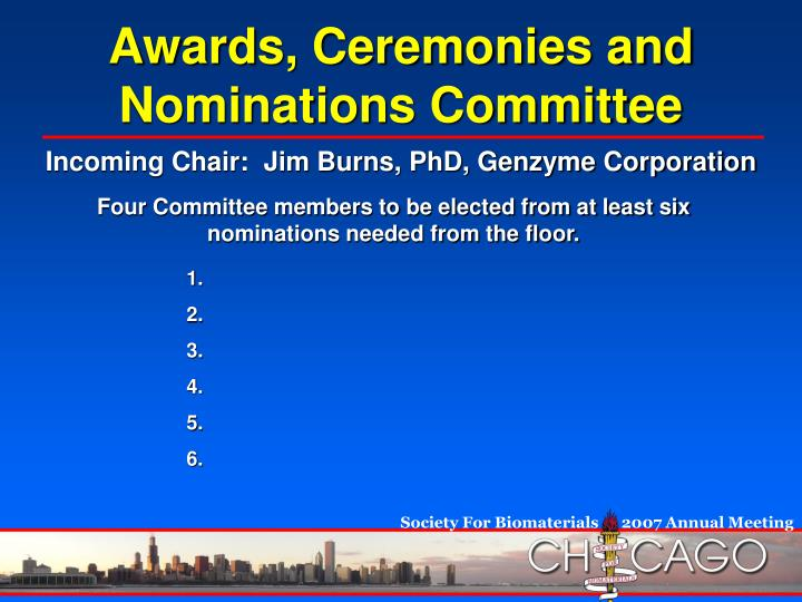 Awards, Ceremonies and Nominations Committee