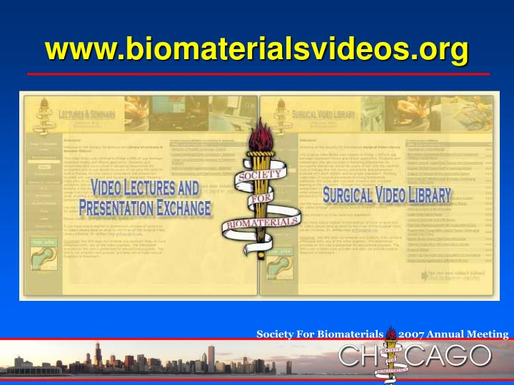 www.biomaterialsvideos.org
