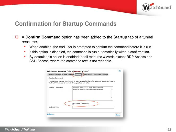 Confirmation for Startup Commands