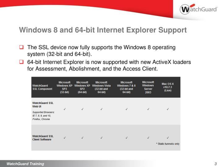 Windows 8 and 64-bit Internet Explorer Support