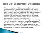 bobo doll experiment discussion