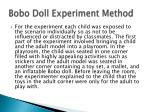bobo doll experiment method1