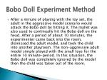 bobo doll experiment method2
