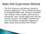 bobo doll experiment method4