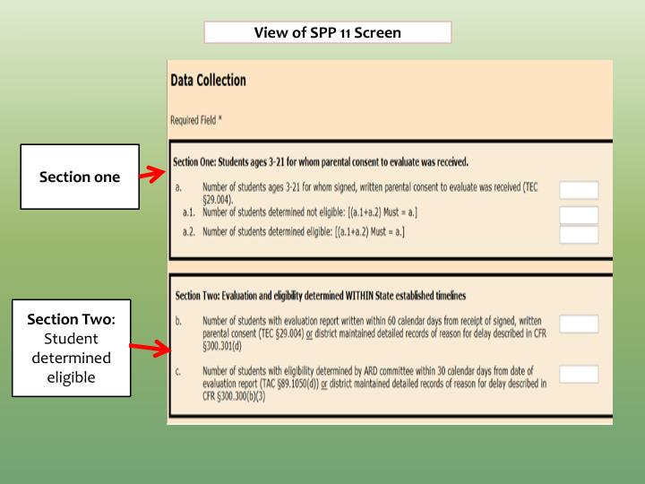 View of SPP 11 Screen