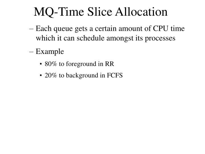 MQ-Time Slice Allocation