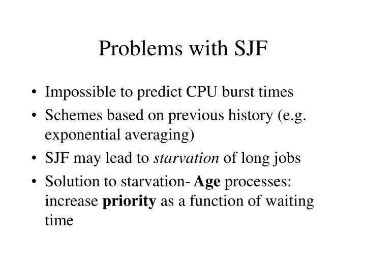 Problems with SJF