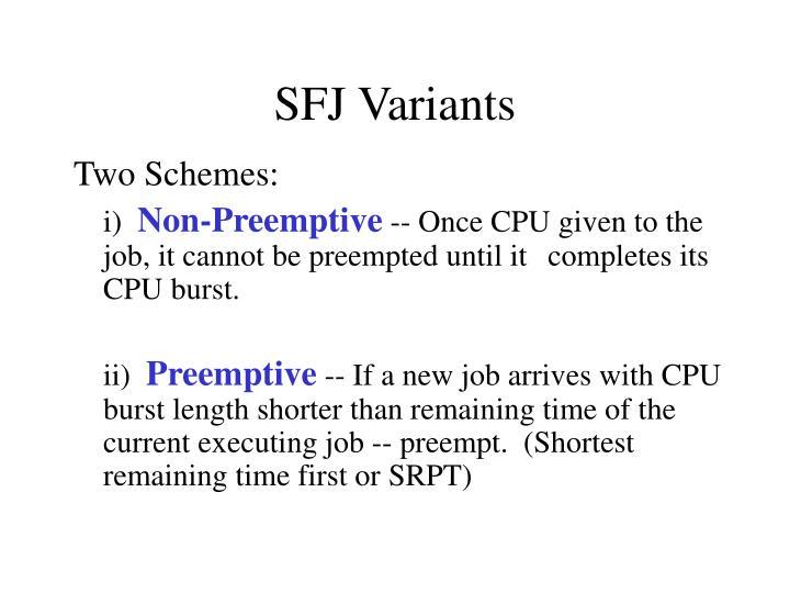 SFJ Variants