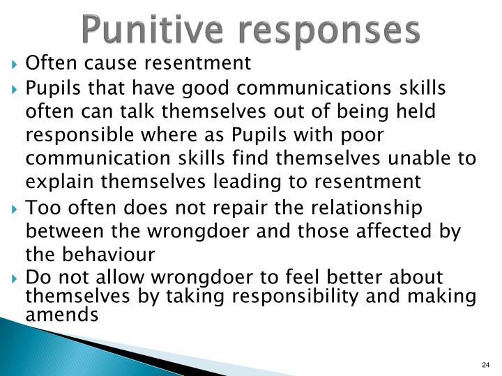Punitive responses