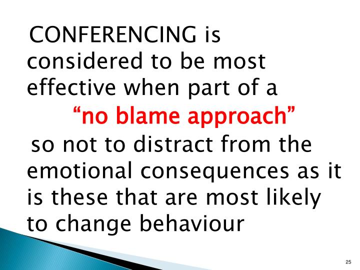 CONFERENCING is considered to be most effective when part of a