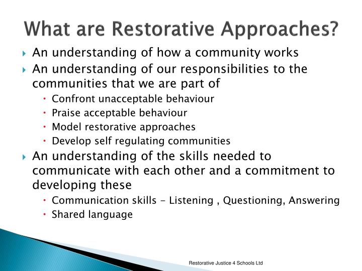 What are Restorative Approaches?