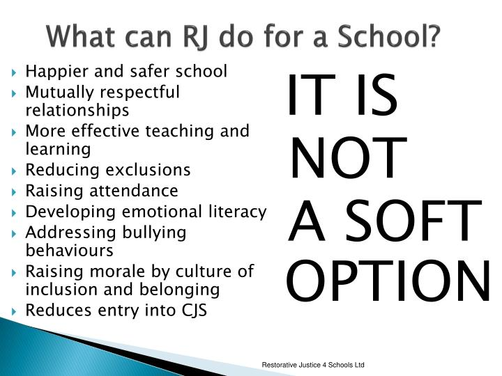 What can RJ do for a School?