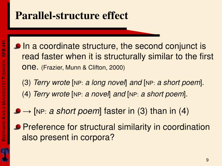 Parallel-structure effect