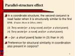 parallel structure effect