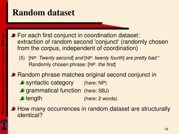 Random dataset
