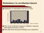 redundancy in coordination dataset1
