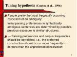 tuning hypothesis cuetos et al 1996