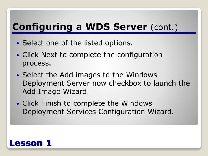 Configuring a WDS Server