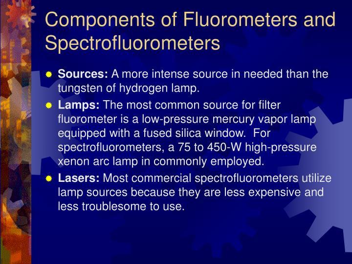 Components of Fluorometers and Spectrofluorometers