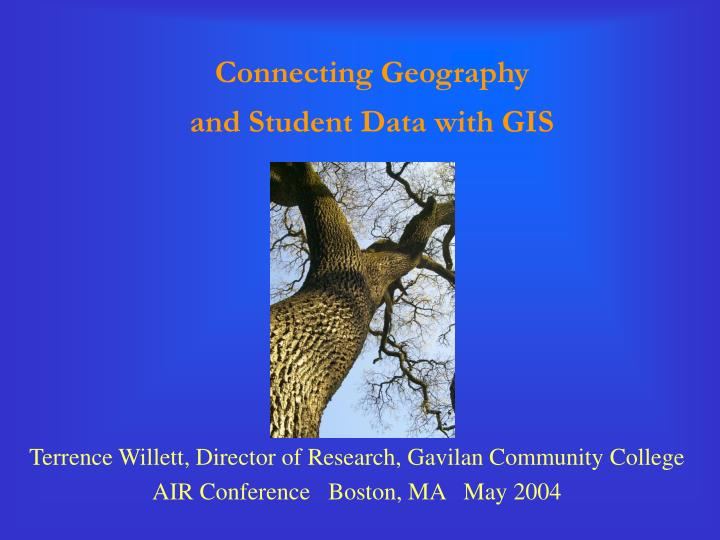 Connecting geography and student data with gis