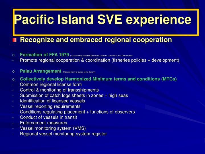 Pacific Island SVE experience