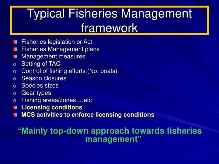 Typical Fisheries Management framework
