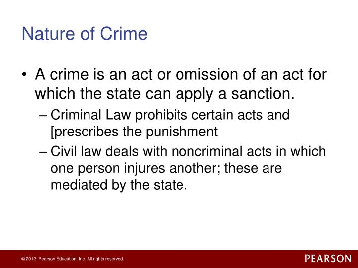Nature of crime