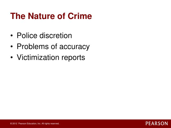 The Nature of Crime