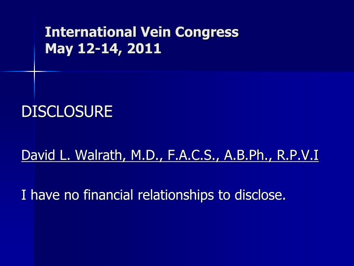 international vein congress may 12 14 2011