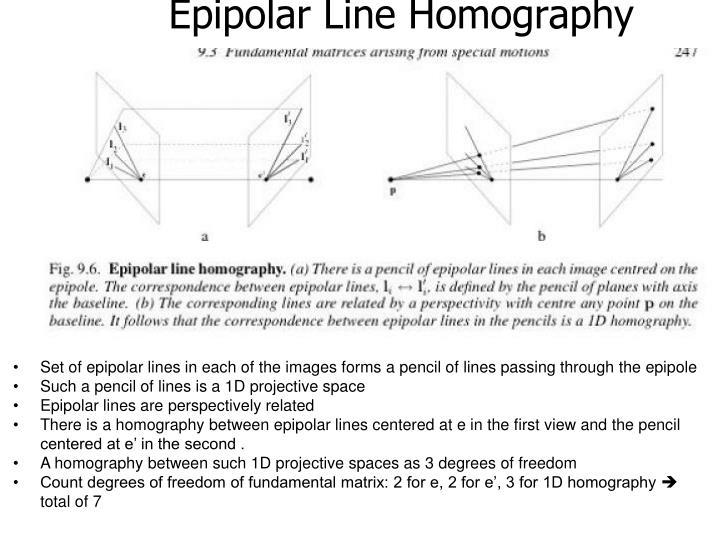 Epipolar Line Homography
