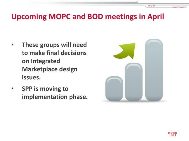 Upcoming MOPC and BOD meetings in April