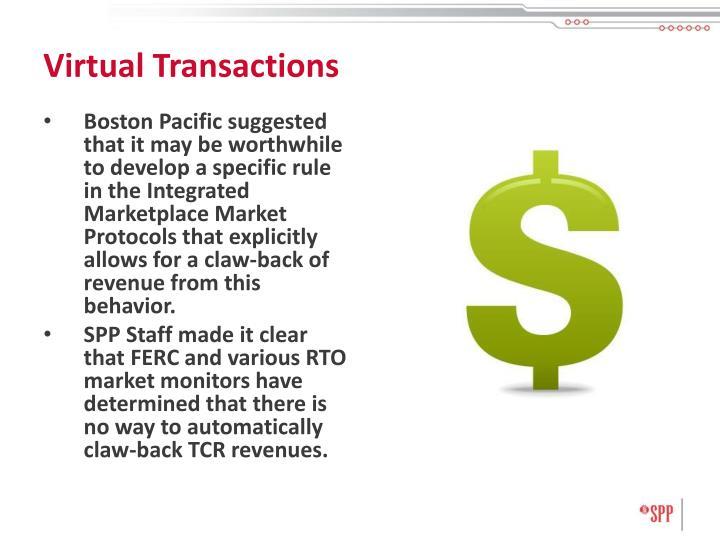 Virtual Transactions