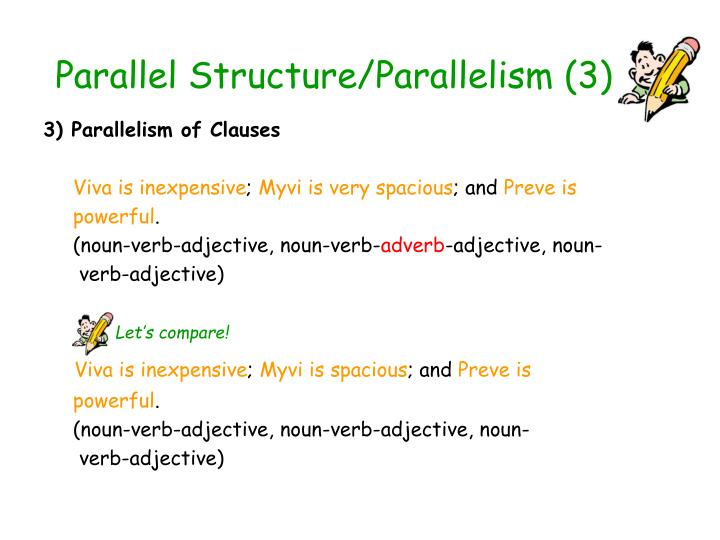 Parallel Structure/Parallelism (3)