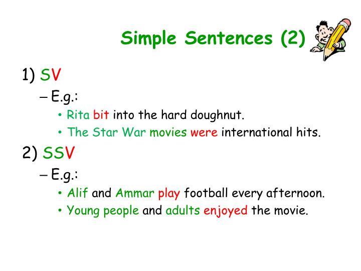 Simple Sentences (2)