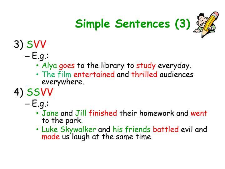 Simple Sentences (3)