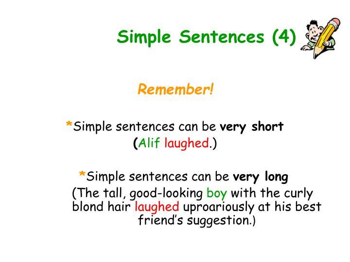 Simple Sentences (4)