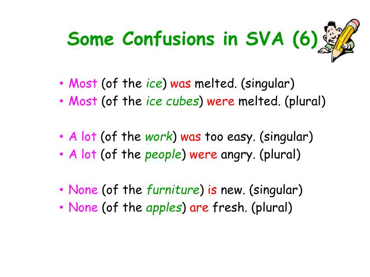 Some Confusions in SVA (6)