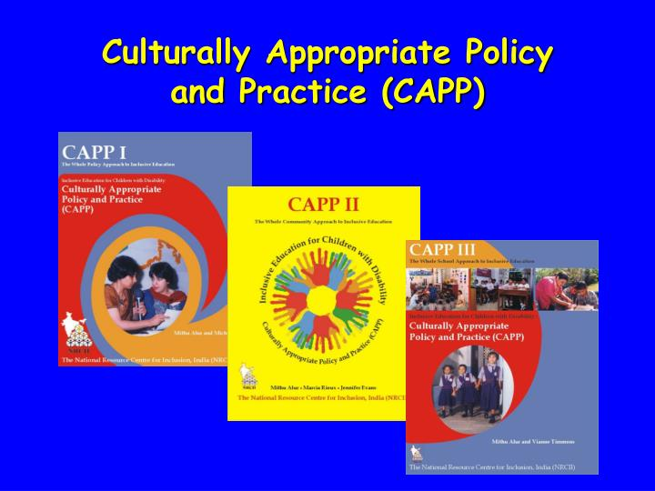 Culturally Appropriate Policy and Practice (CAPP)