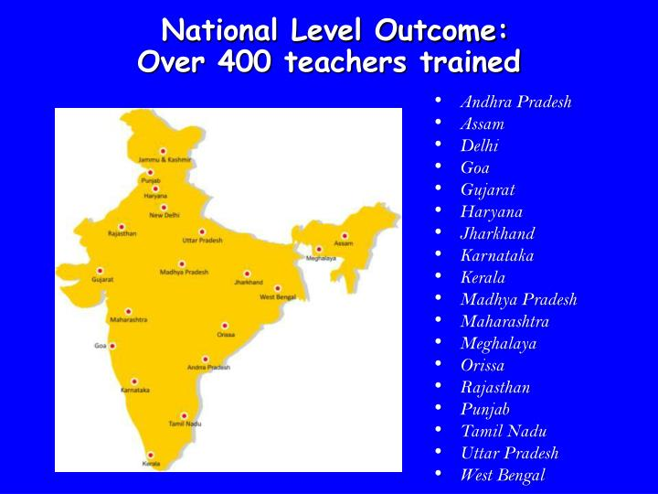 National Level Outcome:
