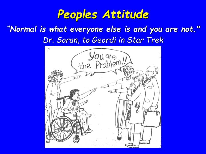 Peoples Attitude