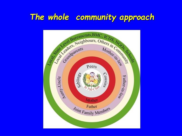 The whole  community approach